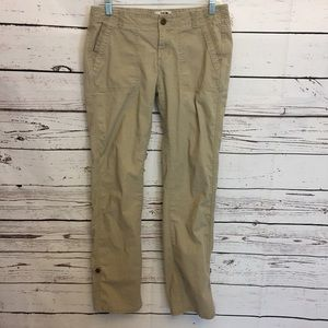North face Womens 8 hiking outdoor Pants Khaki